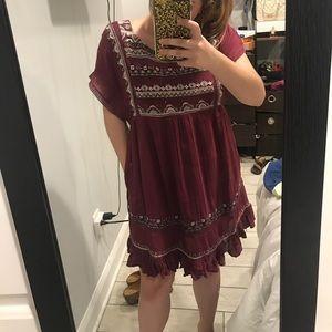 Free People Sunrise Wanderer Mini Dress